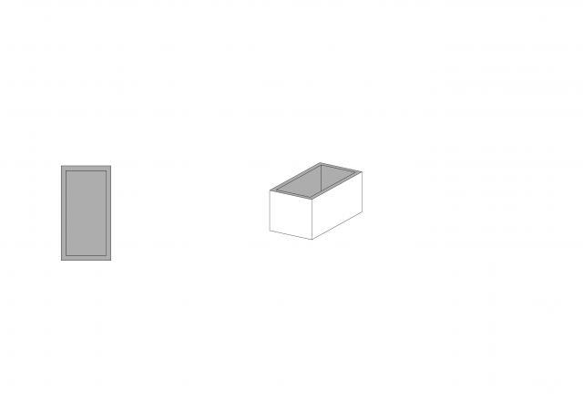 An interior space that is expressed as an enclosed stone prism following the analogies/ratios of the Mani structures